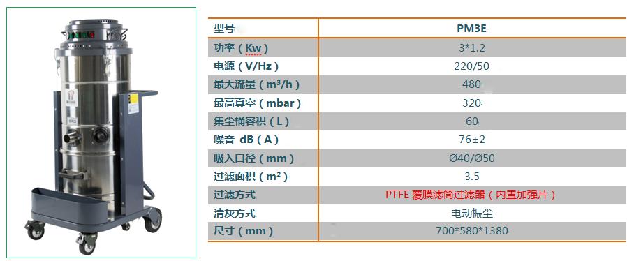 成都劲邦P3J经济型工业吸尘器_220v